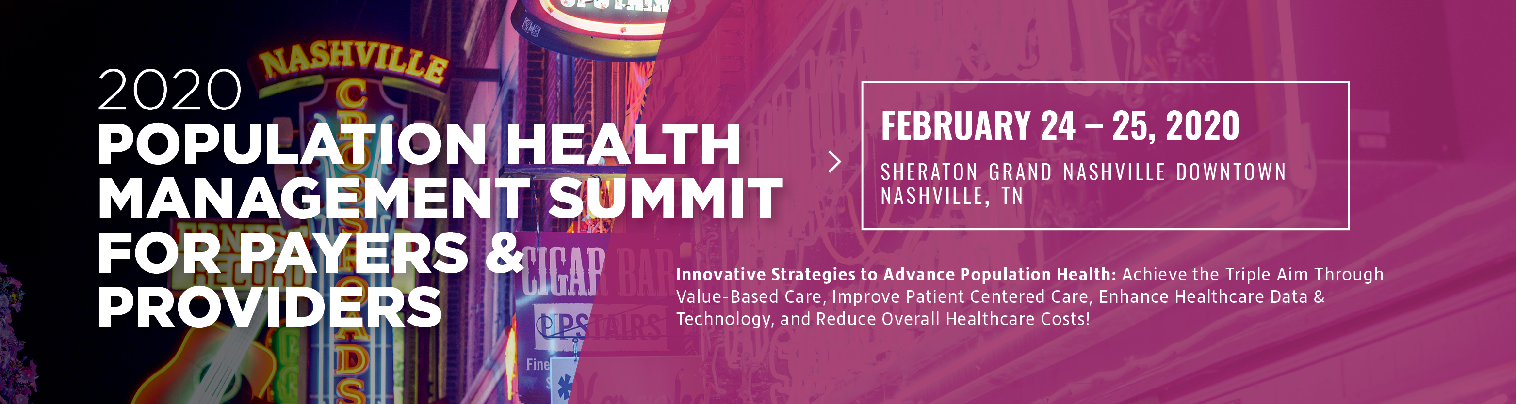 2020 Population Health Management Summit for Payers & Providers